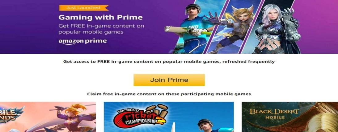 Amazon India launch Prime Gaming to offer selective in-game currency, skins