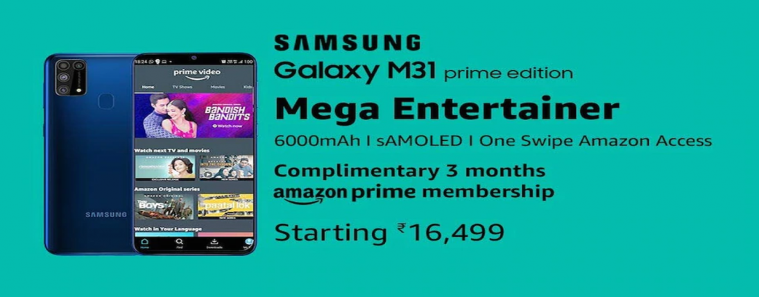 Samsung Galaxy M31 Prime Edition cost in India uncovered on Amazon