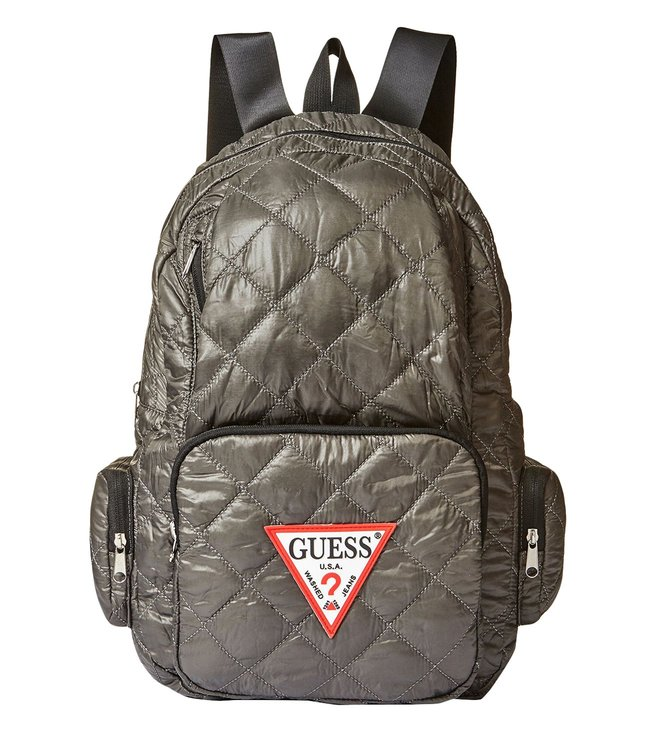 GUESS Grey Just4fun Medium Quilted Backpack