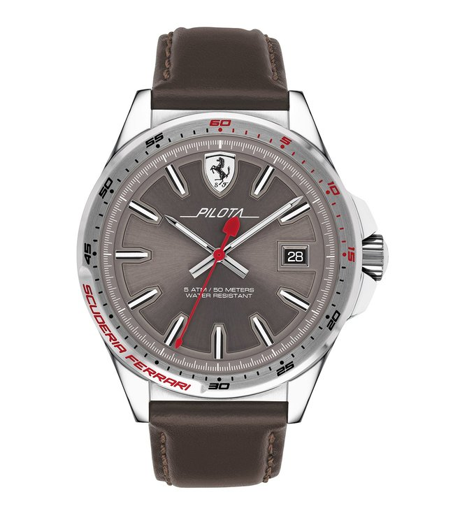 Ferrari 0830488 Pilota Grey Dial Watch for Men