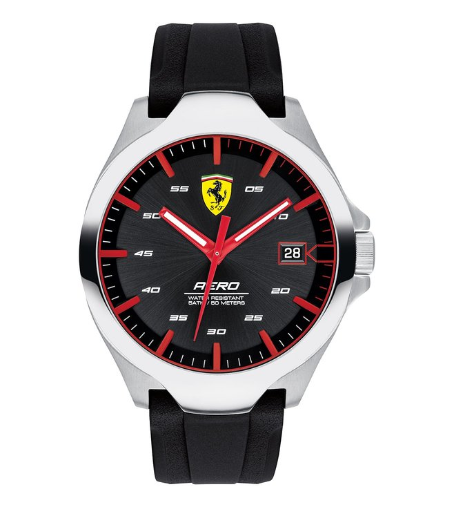 Ferrari 0830506 Aero Black Dial Watch for Men