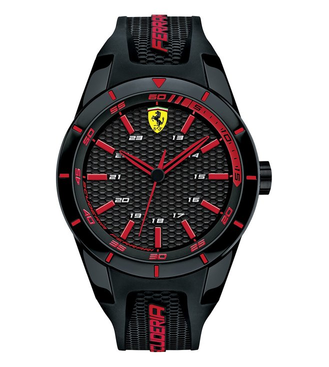 Ferrari 0830245 Red Rev Black Dial Watch for Men